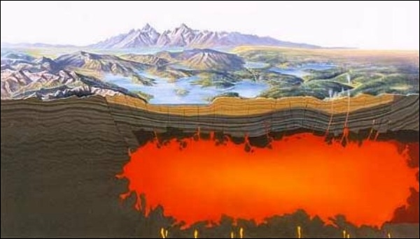 Йеллоустонский национальный парк охватывает область в 3,4684 квадратных миль (8,983 km2), включающие озера